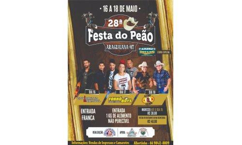 28º Festa do Peão de Araguaiana - MT.