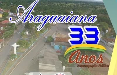 Parabéns Araguaiana, pelos 33 Anos de Emancipação Política.